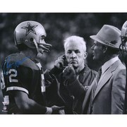 Roger Staubach Dallas Cowboys with Tom Landry