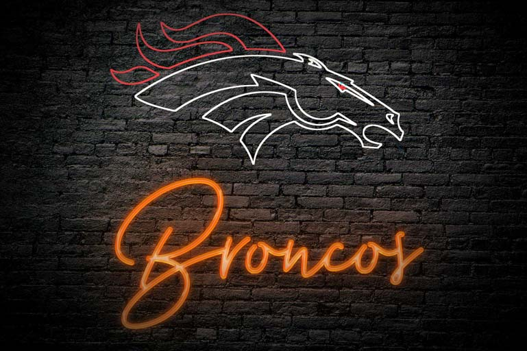 denver broncos neon logo