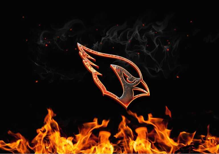 Arizona Cardinals Burn Fire Logo