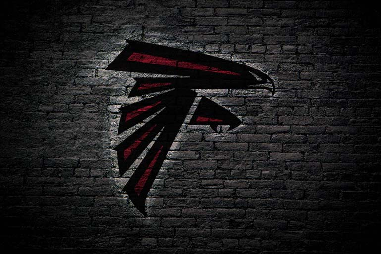 atlanta falcons painted logo only