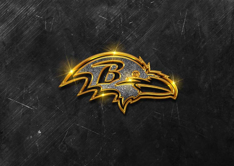 baltimore ravens 3d black glamour
