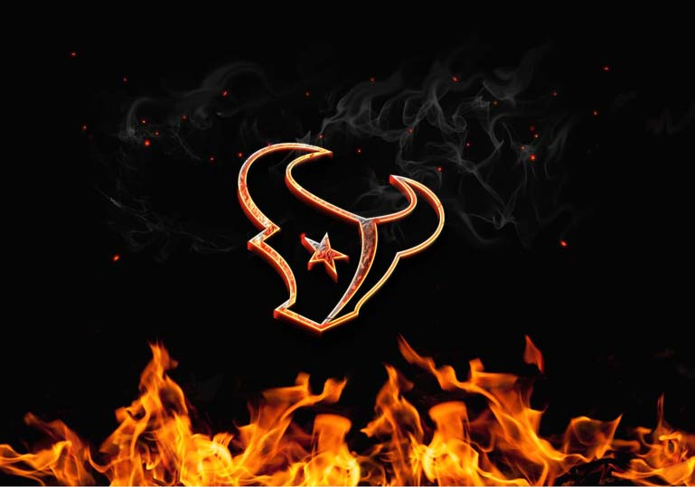 houston texans burn fire logo
