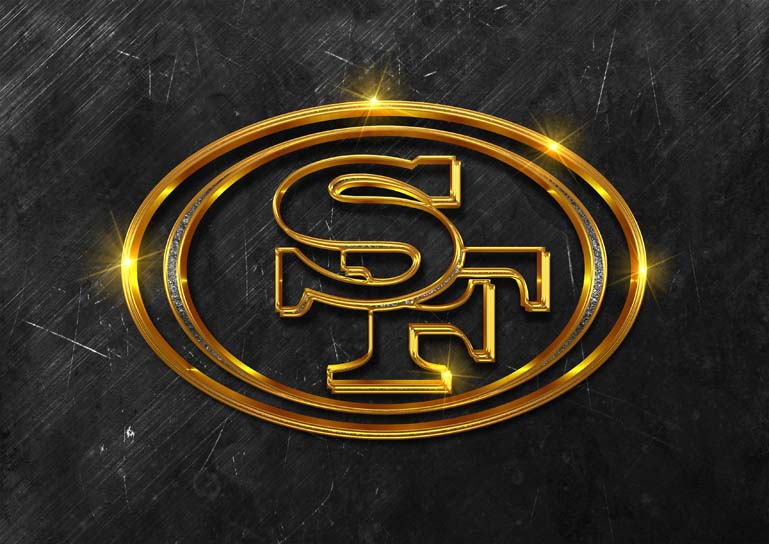 san francisco 49ers 3d black glamour