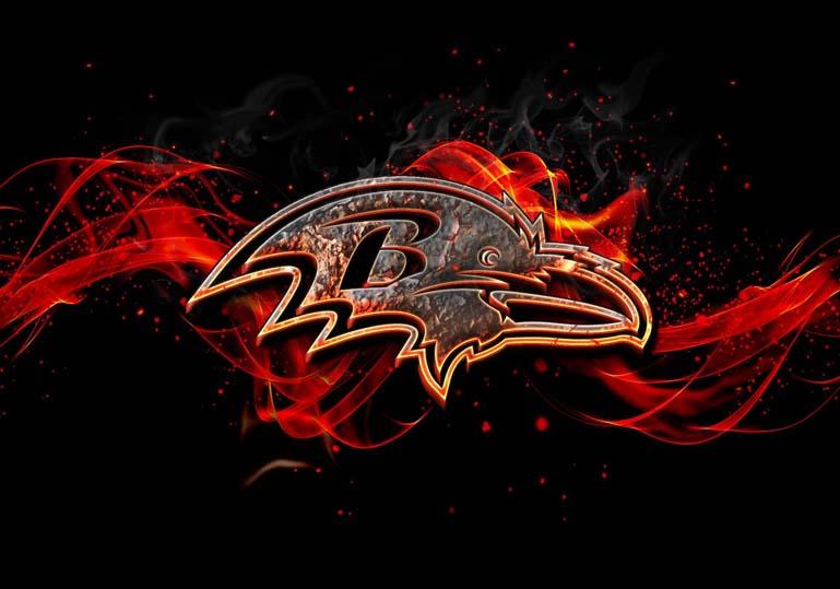 Baltimore Ravens Burn Fire Effect
